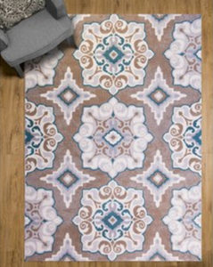 a decorative area rug