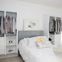 wall organizer system, Victory Closets makes custom closet designs that are reconfigurable without tools and can be in all kinds of styles like walk in closets, mudroom storage, pantries, linin closets, and more in the eastern Pennsylvania area.