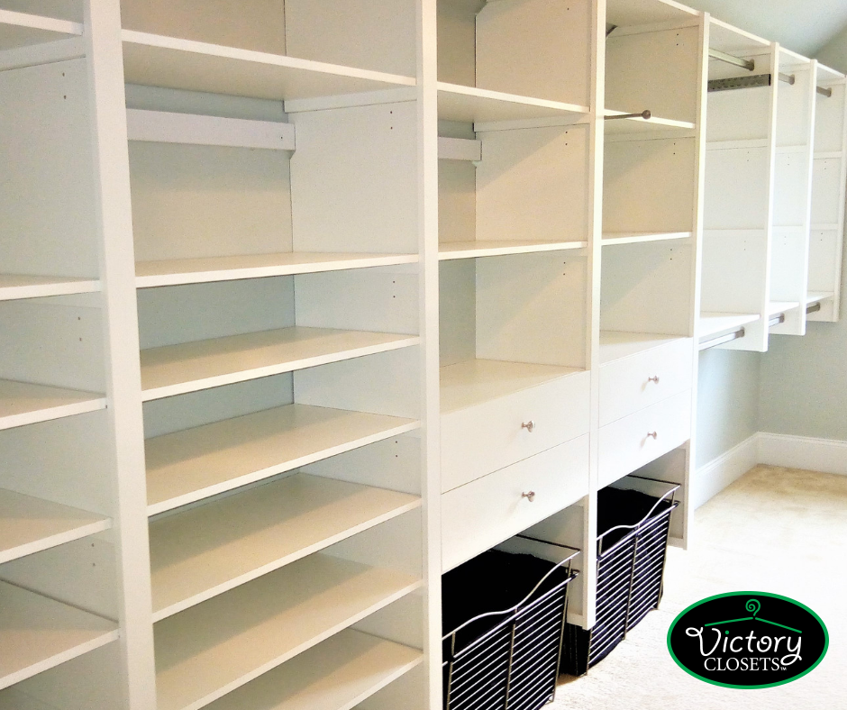 victory closets empty shelving