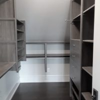 B n W modified attic closet