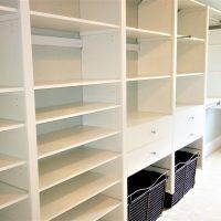 victory closets empty shelving